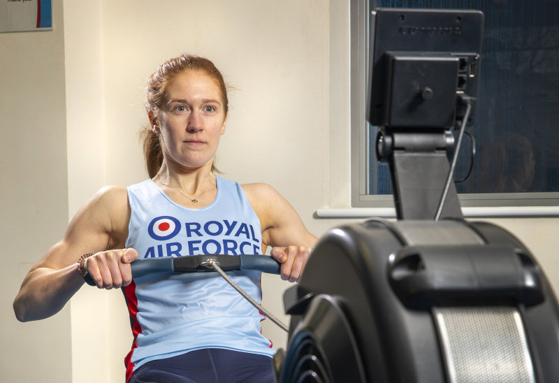 Corporal Victoria Needham concentrating on her technique. Photo: MOD Crown Copyright