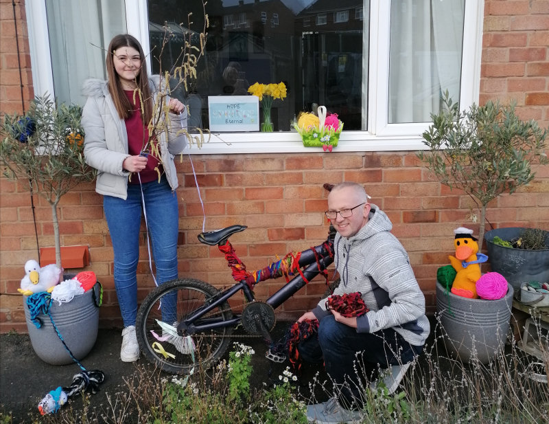 Wellington residents Daisy and Dave Taylor hope the campaign will inspire Wellington to get crafty