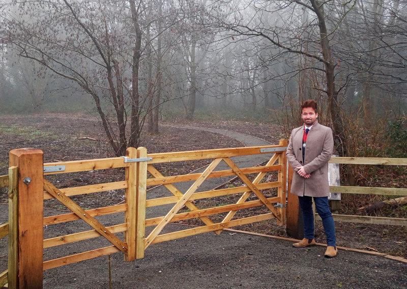 Ian Preece, Deputy Mayor of Great Dawley Town Council at Jubilee Woods