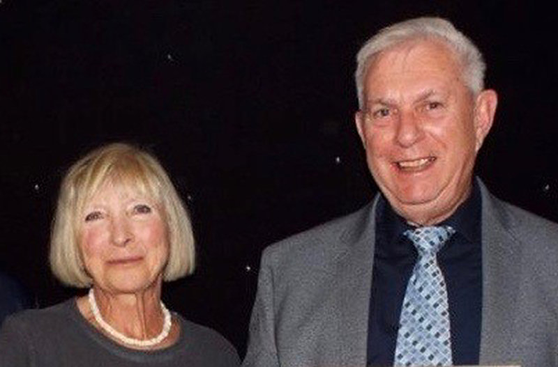 Jilly Broadbent with Keith Smith, who has succeeded her as Tennis Shropshire's new president