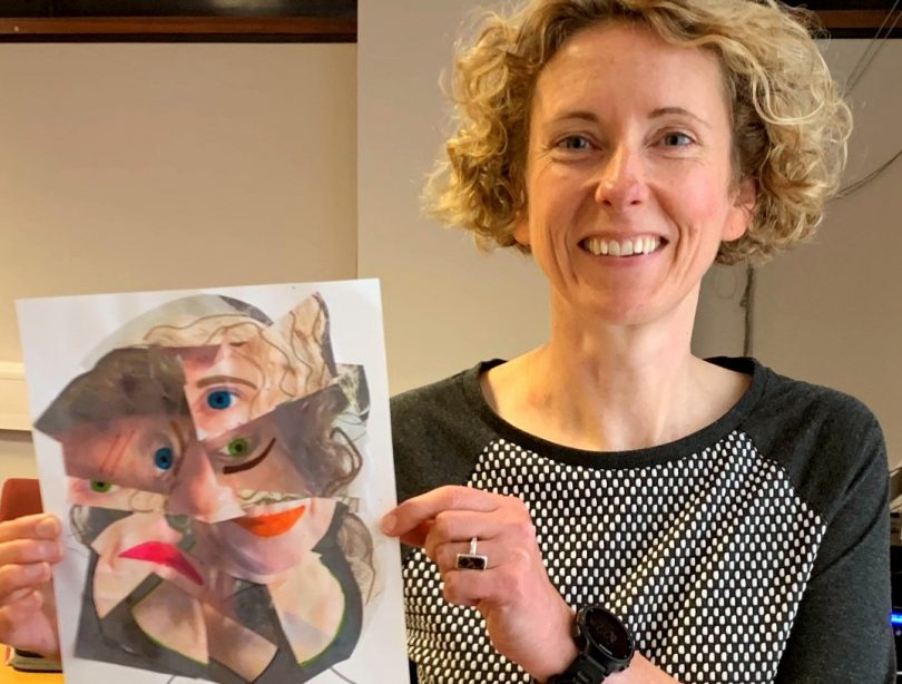 Kate Garner Local Commissioning Manager at Shropshire Council showcases her Picasso portrait