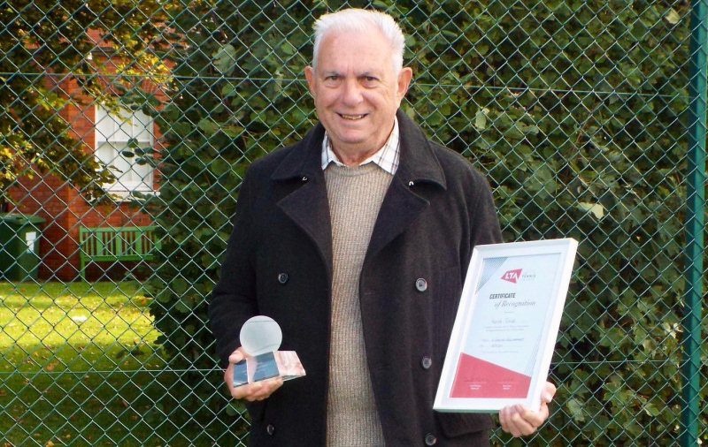 Keith Smith is Tennis Shropshire's new president