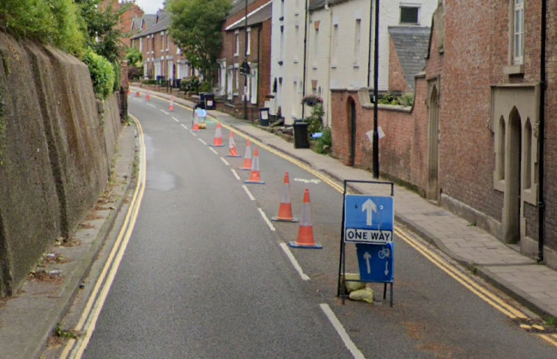 New Street in Shrewsbury is set to become a permanent one-way street