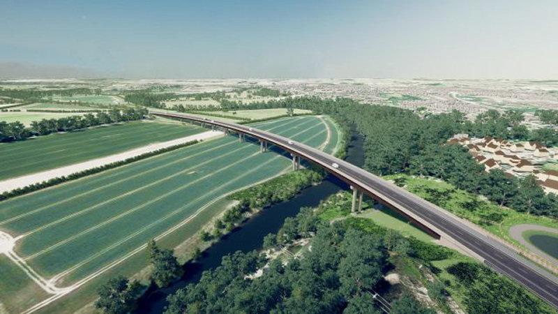 Shrewsbury North West Relief Road viaduct
