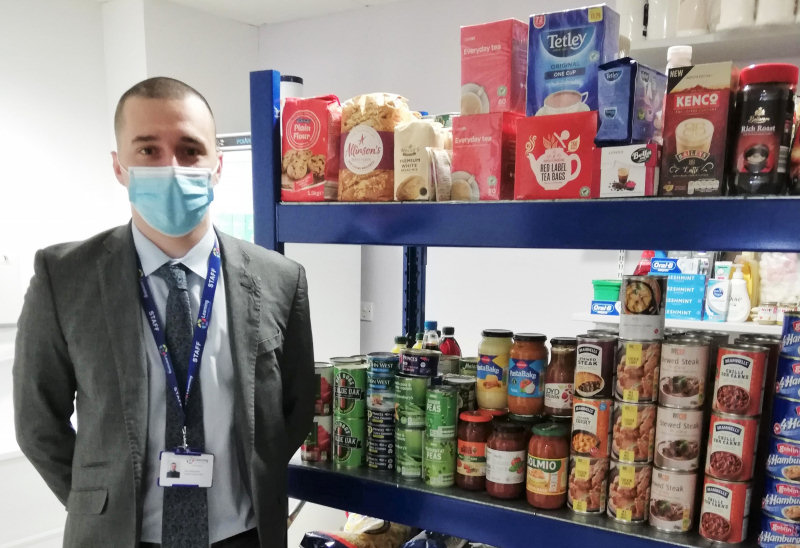Education Welfare Officer Dan Santopietro at the LCT food hub
