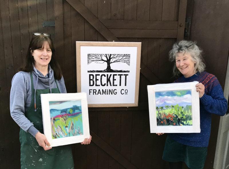 Cheshire-based Art Framer Elaine Beckett and Shropshire artist Penelope Timmis