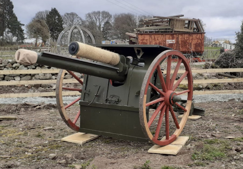 The full-size replica of a WWI 18-pounder Artillery Gun