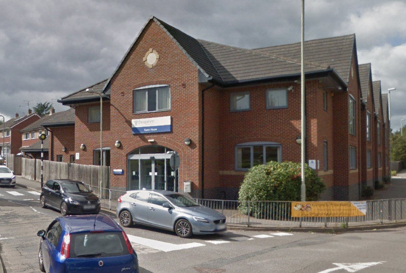 A walk-in centre offering free rapid Lateral Flow Tests to people with no COVID-19 symptoms is to open at Raven House in Market Drayton. Image: Google Street View