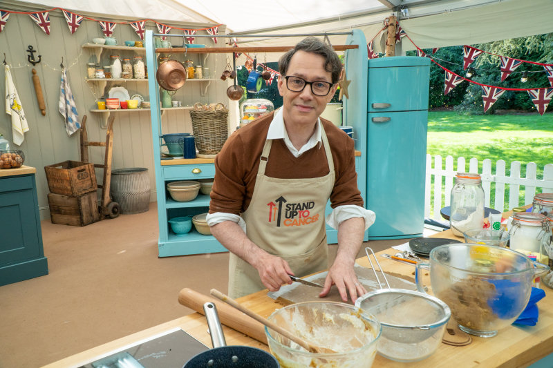 Reece Shearsmith takes part in The Great Celebrity Bake Off for Stand Up To Cancer