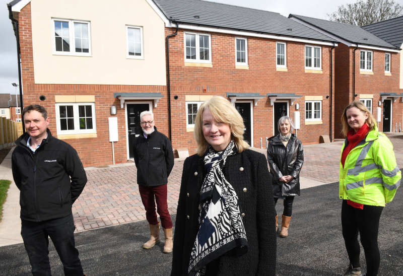 The development on Britannia Way in Hadley has now been completed