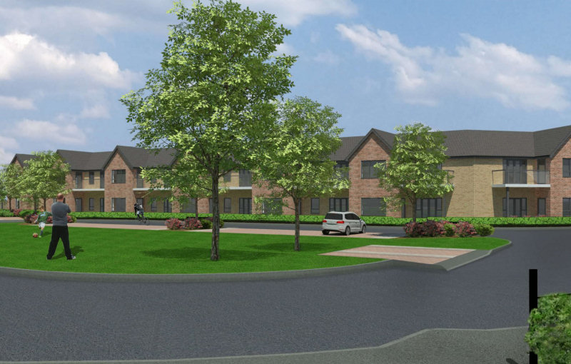 CGI Images of the proposed extension in Bicton