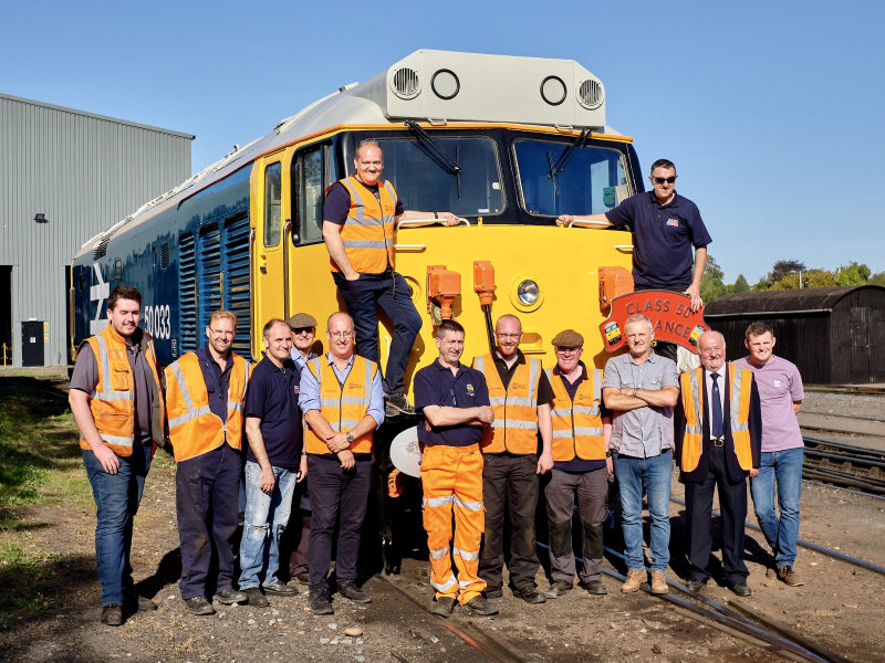 Members of the Class 50 Alliance team. Photo: Ted Dunster