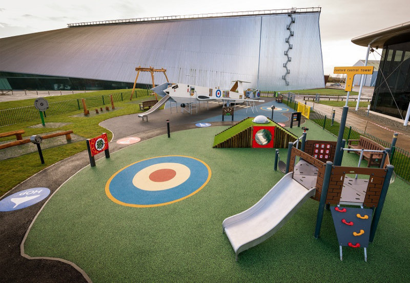 The new outdoor playground at RAF Museum Cosford. Photo: ©Trustees of the Royal Air Force Museum