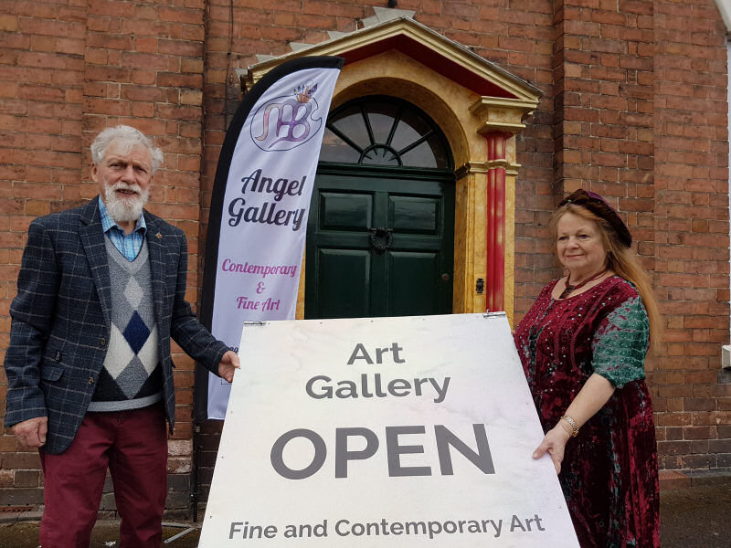 Mike and Ann Fraser prepare to open The Angel Gallery in Broseley