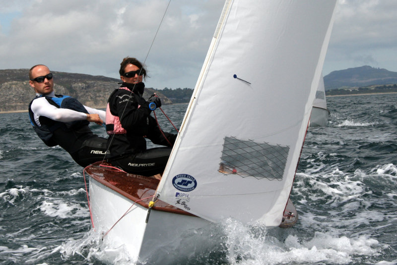 Liz and her husband Mike taking part in the national sailing championships