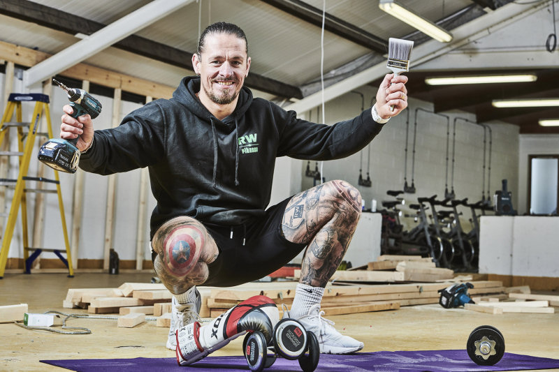 Rich Woodman is looking to transform an old farm shop into a new community fitness hub