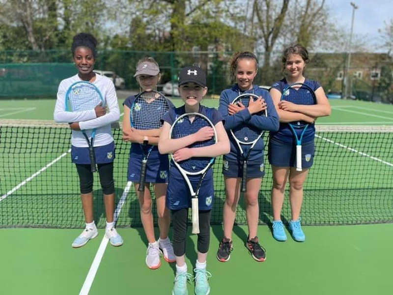 Shropshire's girls team face the camera during the LTA's 12U County Cup last weekend