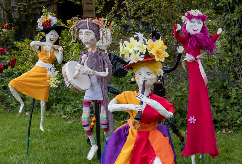 Some of the magical sprites on show in Cremorne Gardens for the May Day weekend