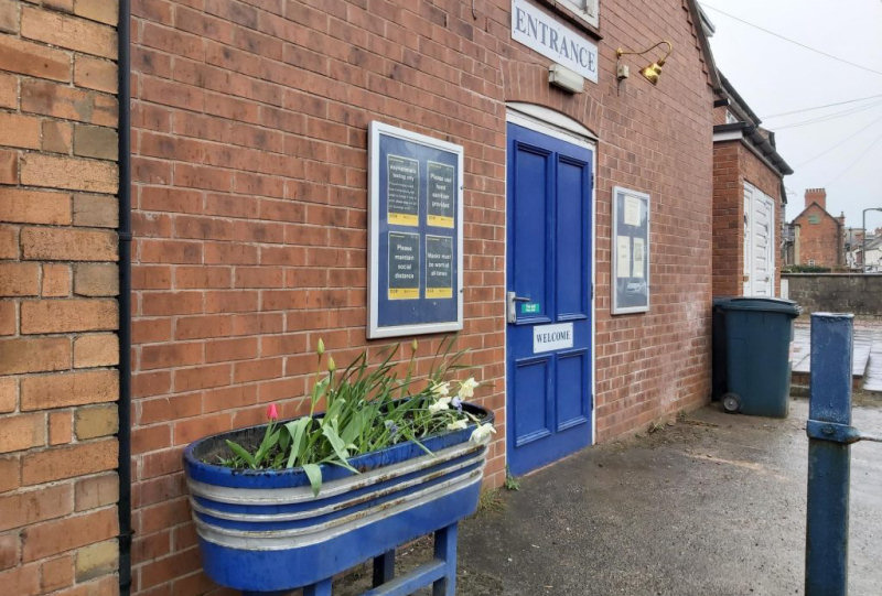 The lateral flow kits can be collected from Stage Door Theatre in Wem. Photo: Shropshire Council