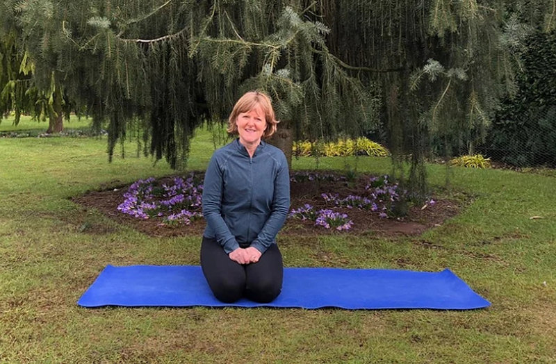 Sue Pugh at Goldstone Hall, one of the venues of yoga in special places