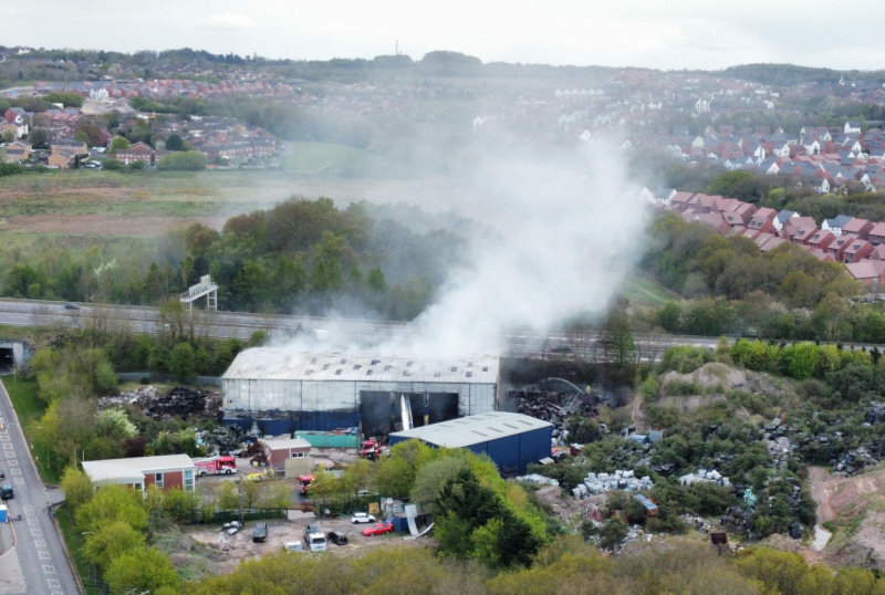 The scene of the fire on Thursday. Photo: James Griffiths