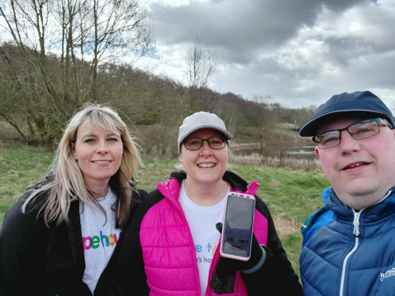 The Take A Hike event saw hundreds of walkers complete a 10-mile hike in support of seriously ill local children
