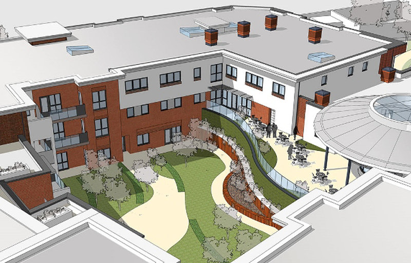 Artists impression of the new Pauls Moss devleopment in Whitchurch