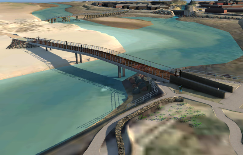 The new bridge will reconnect Lossiemouth with its iconic East Beach
