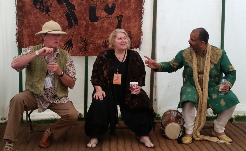Storytellers. Andy Harrop Smith, Shonaleigh, and Peter Chand