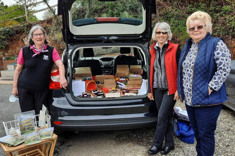 Organisers Jane Jasper and Jane Cook with Barbara Talbott. Photo: Mike Purnell
