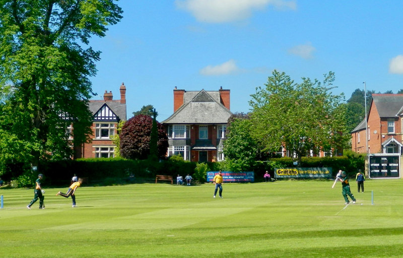 Oswestry hosted Shropshire's opening NCCA group match against Northumberland
