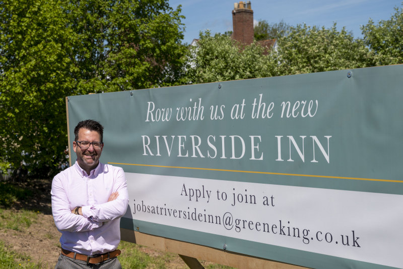 Chris Kendall manager at The Riverside Inn
