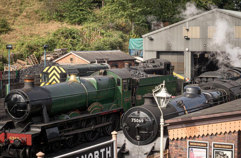 Steam locomotives in front of the loco works. Photo: Yana Northen