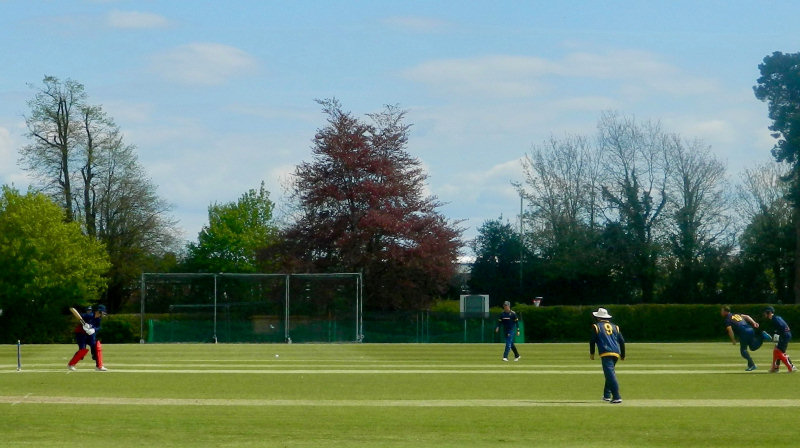 The scene at Whitchurch as Shropshire hosted a Lancashire CCC XI in a 50-over friendly