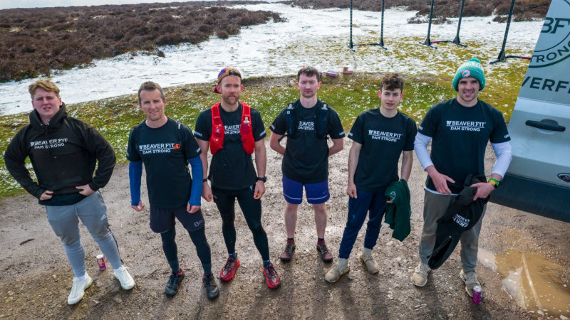 The team completed the long-distance run across the Shropshire Hills and even stopped to do 100 pull-ups at the halfway point