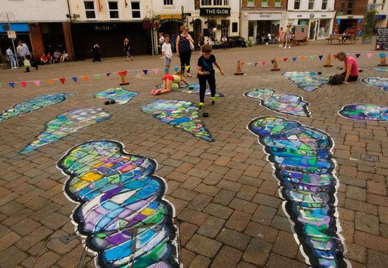 Activities are being run by visual street artists