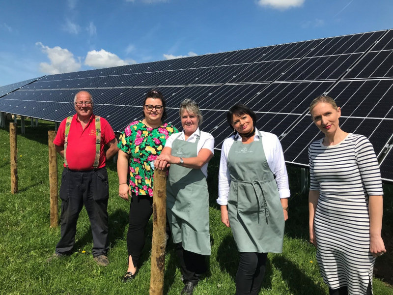 The solar panels have been installed by low carbon specialists, Noble Green Energy and took just over a week to install