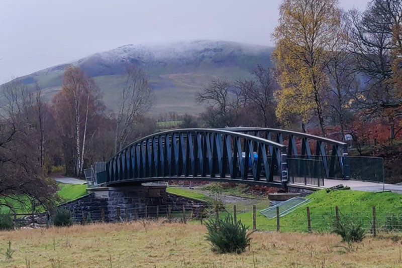 The bridges were part of the reconstruction of the Railway Trail connecting Keswick to Threlkeld