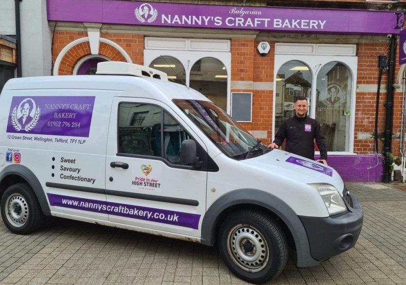 Kristiyan Dimitrov of Nanny's Craft Bakery in Wellington. Photo: Telford & Wrekin Council