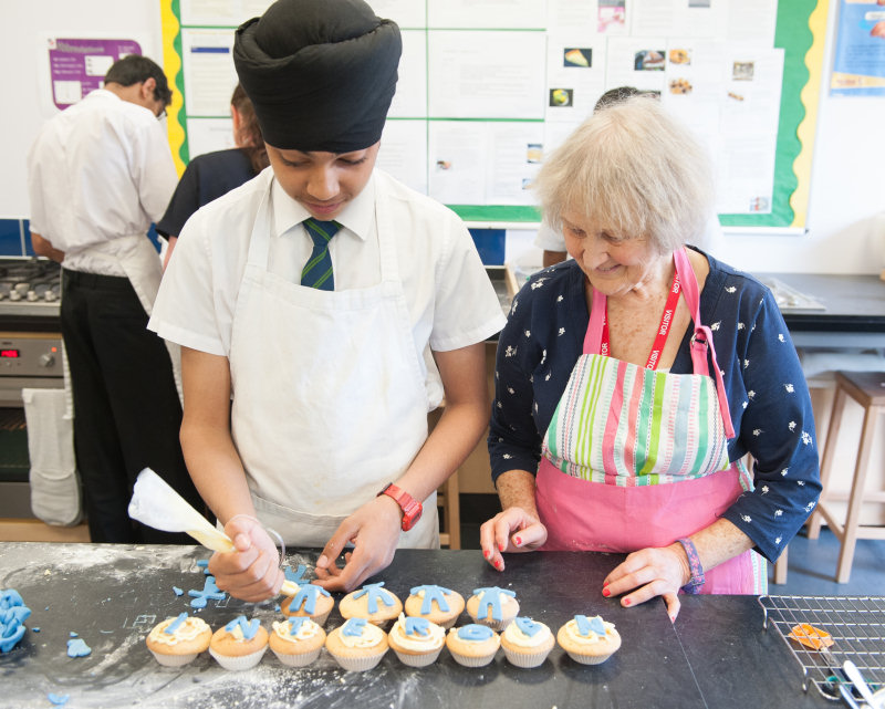 Norma's organisation 'From Generation to Generation', links up older people with school pupils
