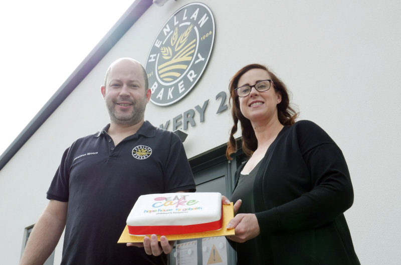 Jonathan Moore and Ainslie Edwards from Henllan Bakery