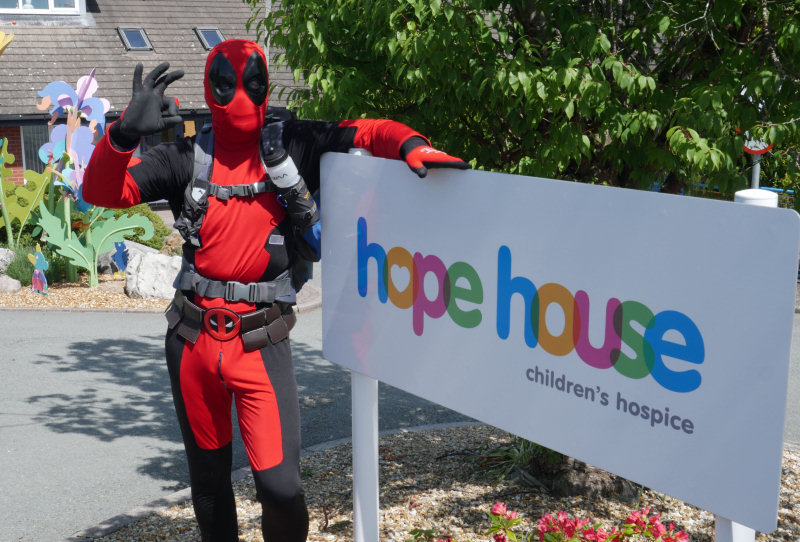 Paul Edwards will be donning a full Deadpool costume during his charity walk