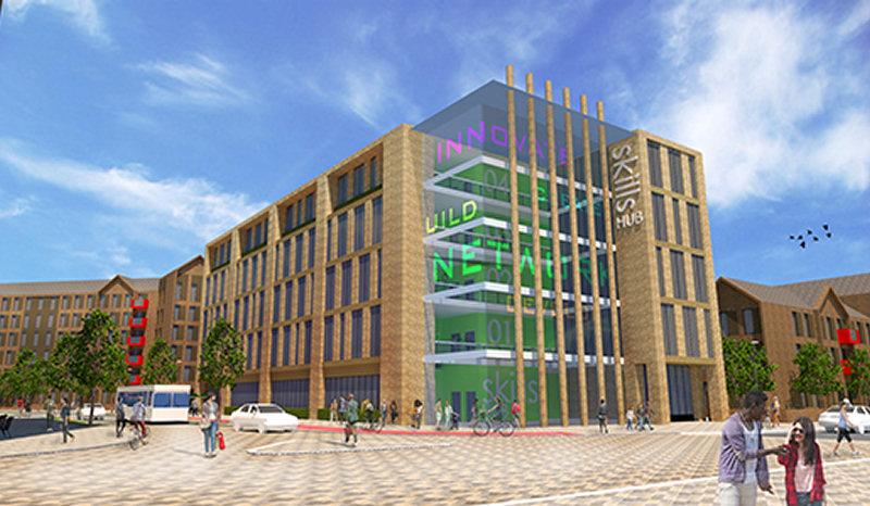 Plans for Station Quarter include a digital skills and enterprise hub