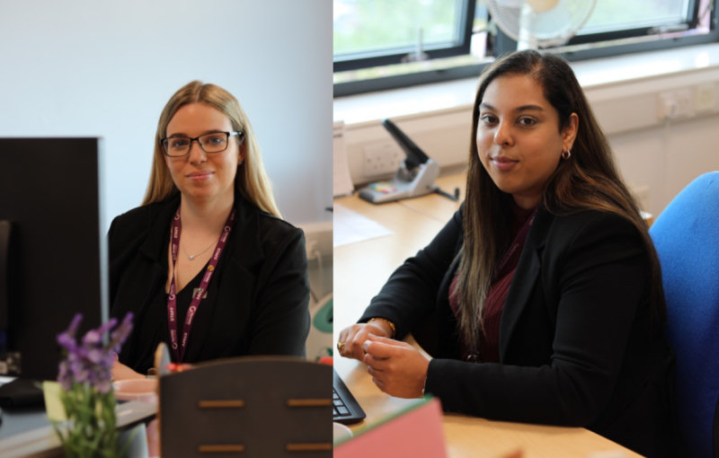 Rachael Watts and Kiran Uppal have taken on new roles at Telford College