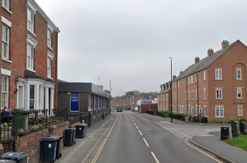 The temporary lights have been put in place on St Michael Street in Shrewsbury. Image: Google Street View