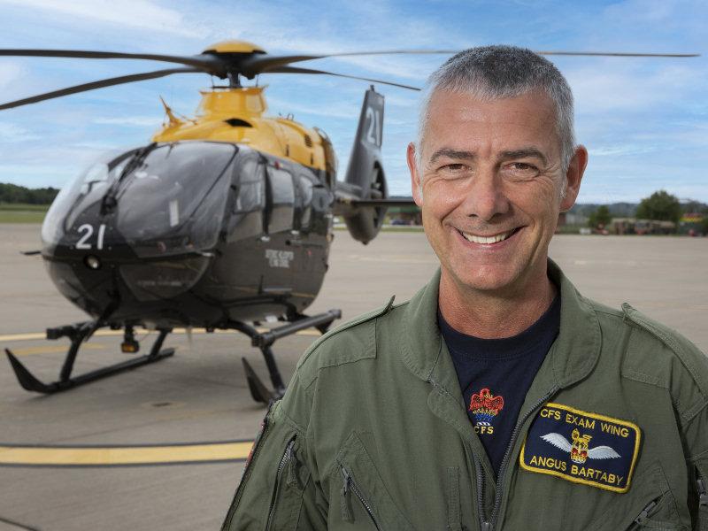 WO1 Angus Bartaby at RAF Shawbury