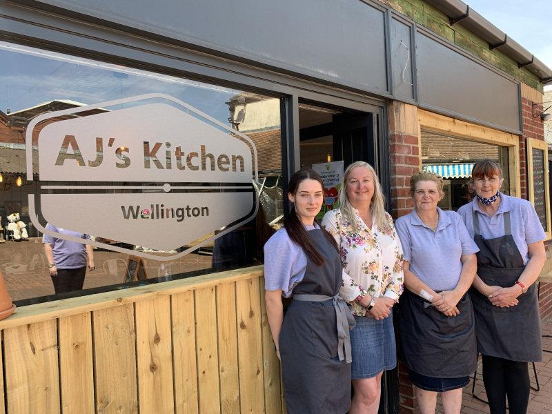 Café staff Tia Savage, Jane Edginton, Rhonda Edington and Tracey Edkins