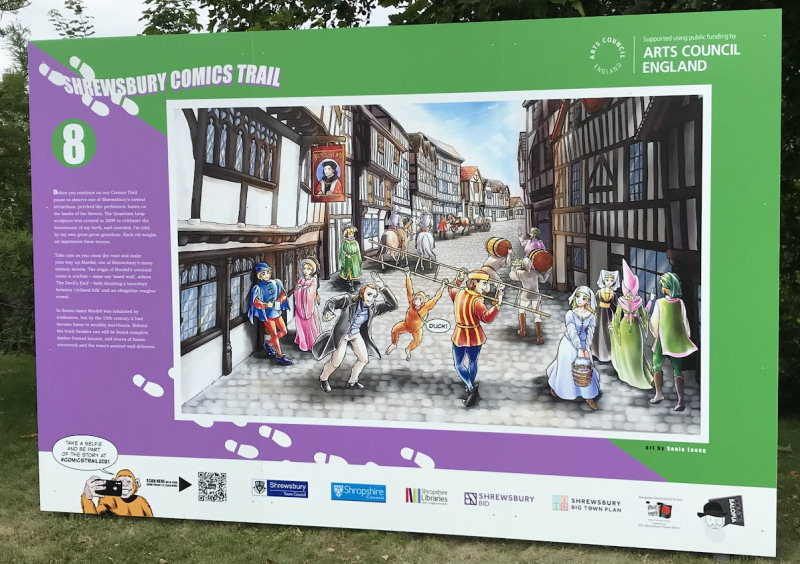One of the installations located on Smithfield Road as part of Shrewsbury Comics Trail