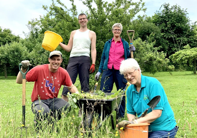 Pictured from left are volunteers Andy Harman, Alex Collier, Carola Adams and Jude Pilgrim