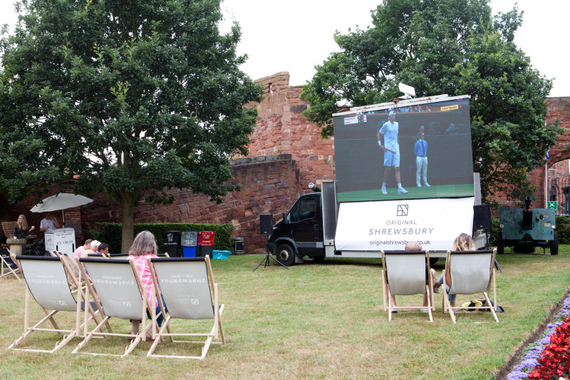 A large screen will be set-up on the castle lawns in Castle Gates